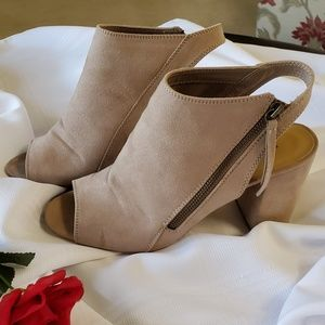 Open-toe, open-heel booties